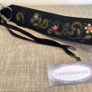 Brighton Multicolor Leather Tie Belt - adjustable